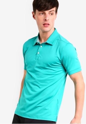 UniqTee 綠色 條紋滾邊袖POLO衫 322A8AA5AB4E40GS_1