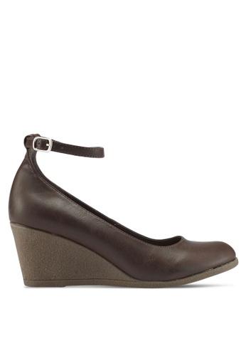 Bata 褐色 繞踝楔型鞋 A2D27SHF8E5492GS_1