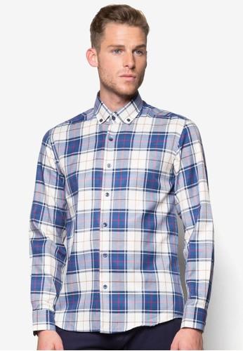 格紋長袖襯衫esprit 兼職, 服飾, 服飾