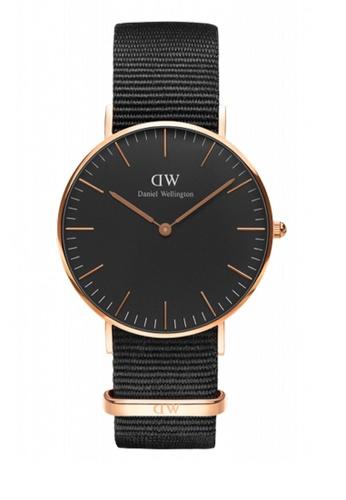 Daniel Wellington black Classic Black Cornwall Watch 36mm DA376AC65NCCMY_1