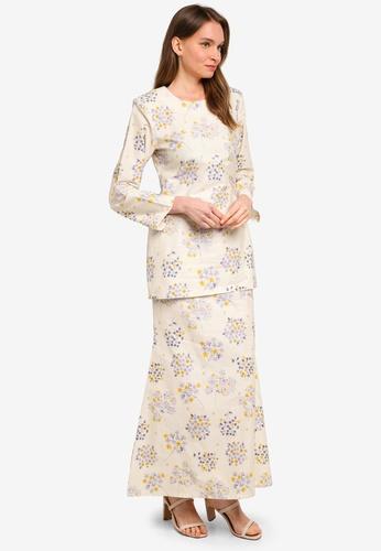 Butik Sireh Pinang beige Baju Kurung Moden Alisa 673C3AAB940959GS_1