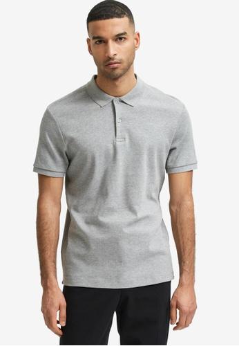 Selected Homme grey Paris Short Sleeve Polo Shirt 2AAF5AAED54F09GS_1
