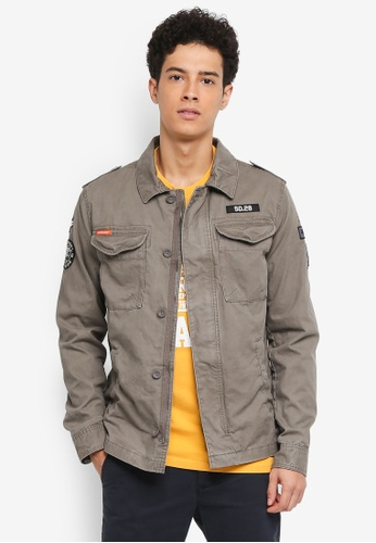 Superdry green Rookie Deck Patched Jacket 6B6CEAA4445AB3GS_1