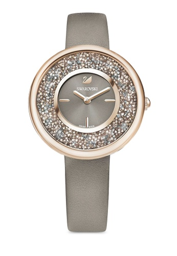 Swarovski beige Crystalline Pure Leather Strap Watch 6502BAC9FBB5D5GS 1 d58386a66d