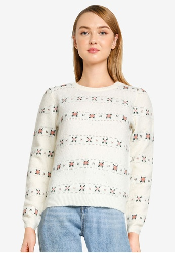 Springfield beige Recycled Polyester Floral Jumper C557CAA382137FGS_1