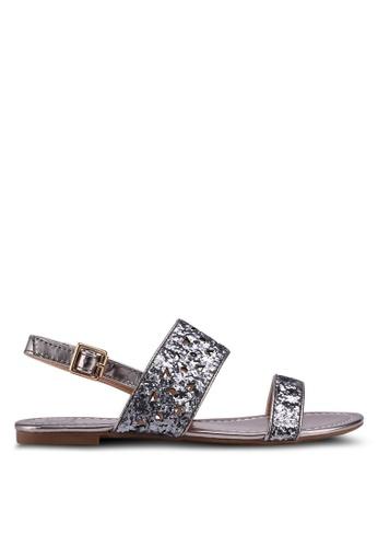 Carlton London grey Metallic Sandals 907D4SH2E85358GS_1