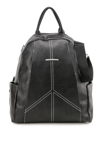 London Berry By Huer black Laiyu 2 Ways Backpack FA093ACA238EFDGS_1