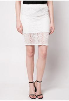 Ember Midi Lace Skirt