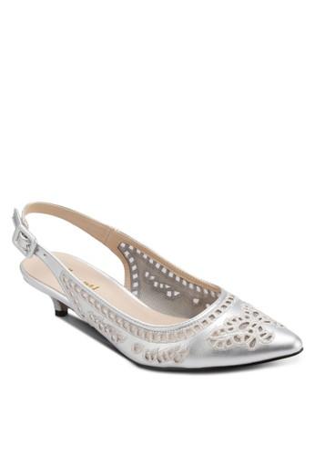 雕花繞踝尖頭低跟zalora時尚購物網的koumi koumi鞋, 女鞋, 鞋