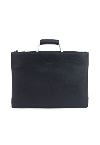 Kawamura blue Lotuff Simple Clutch & Briefcase KA610AC11ABCPH_1