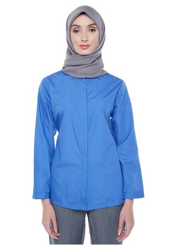 Hanalila Daily Hijab blue Felicia Tops in Blue 994D2AAAD7CB50GS_1
