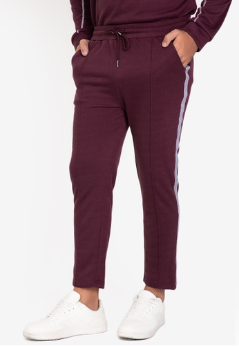 ZALORA BASICS purple Side Trim Tailored Jogger Pants 1D0EEAA4A60762GS_1