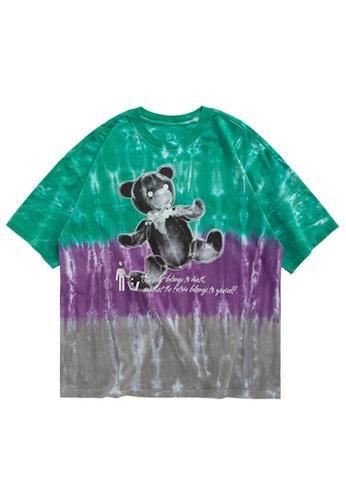 Twenty Eight Shoes Tie-Dyed Printed T-Shirt 1278S20 F7081AA2CF556CGS_1