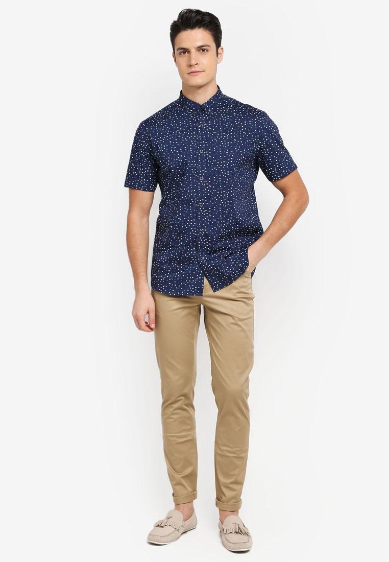 Dot Sleeve Short G2000 Peacoat Shirt Irregular Print P1wqcSPd
