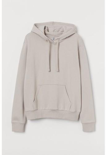H&M beige Hooded top 59697AADC01EA6GS_1
