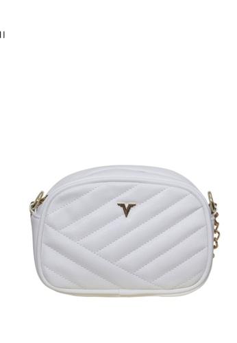 Verchini white Verchini Quilted Patent Crossbody Bag 57333AC2824B7AGS_1