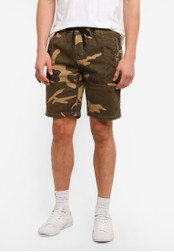 UniqTee green Chino Shorts With Elastic Waistband UN097AA0S225MY_1