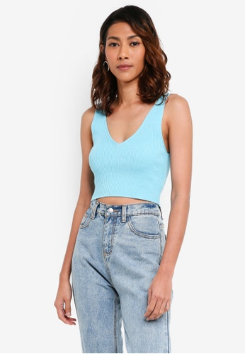 TOPSHOP 綠色 Wide Strap Bralet A2BA6AAE92228AGS_1