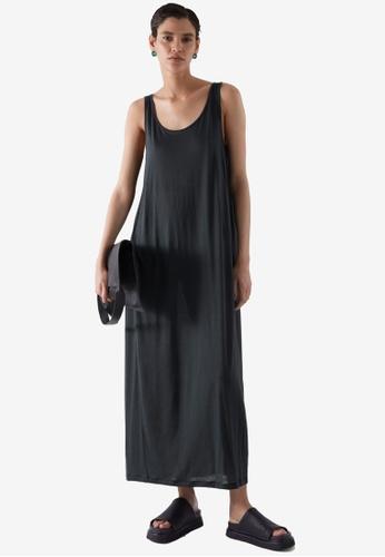 COS black Relaxed Jersey Dress B063CAAE4FCEF9GS_1