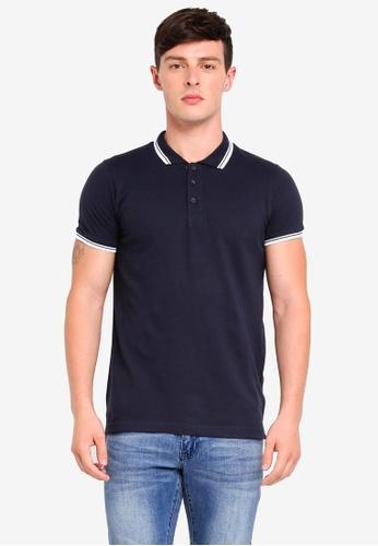 Brave Soul 海軍藍色 Pique Polo Shirt C2139AAB81077EGS_1