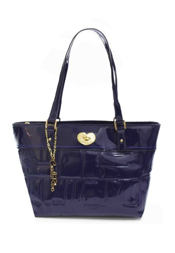 Carlo Rino Signature Embossed Patent Shopper