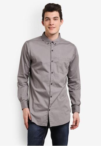 Cotton On grey Ae Long Sleeve Longline Shirt CO372AA0RI23MY_1
