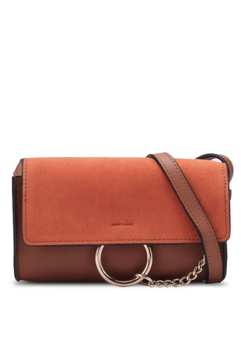 Nose orange Casual Round Ring Chain Crossbody Bag NO327AC0S6UAMY_1