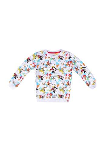 LC Waikiki blue and multi Baby Boy's Disney Printed Sweatshirt 2059BKA31FFFCAGS_1