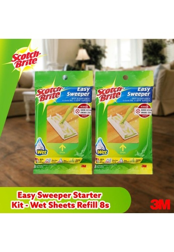 Scotch-Brite 3M Scotch Brite Easy Sweeper Starter Kit - Wet Sheets Refill 8s [Q600RW-E] Bundle of 2 55600ESC8246A5GS_1