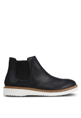 Selected Homme black Rud Chelsea Leather Boots SE364SH0RMCTMY_1
