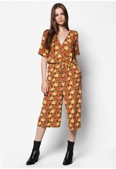 Marigold Print Culotte Jumpsuit