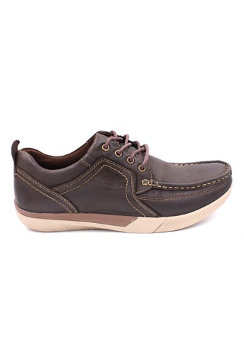 midzone brown Leather Casual Lace Up MI949SH60XETMY_1