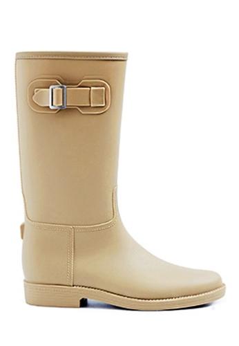 Twenty Eight Shoes beige Long Rain Boots MM21A 0CE85SHEA446FAGS_1