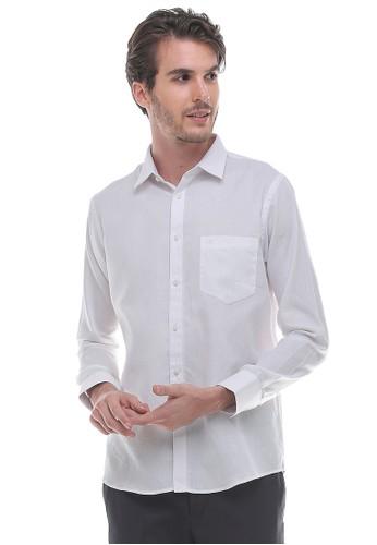 Johnwin white Johnwin - Regular Fit - Kemeja Formal - Bahan Bertekstur - Putih 90A14AA77194BFGS_1