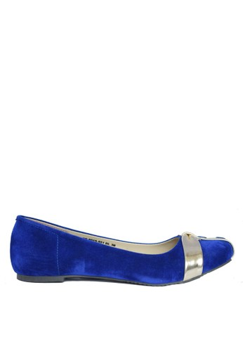 CAROL BRENNER blue CAROL BRENNER SUEDE BIRU (LADIES FLAT SHOES) CA126SH0W90GID_1