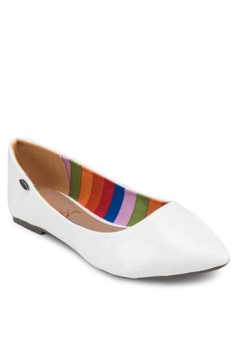 經esprit outlet 家樂福典漆面尖頭平底鞋, 女鞋, 芭蕾平底鞋