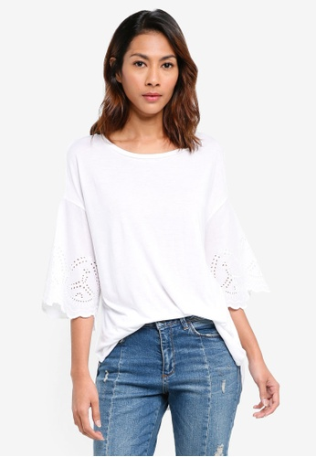 fd1b16ab United Colors of Benetton white Contrasting Pleated Blouse  6D002AAF81E3EBGS_1