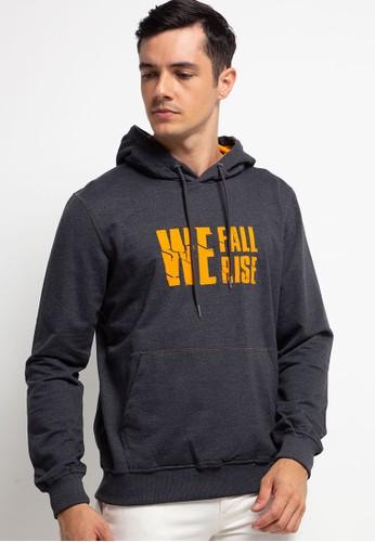 D&F grey Sweatshirt L/S Hoodie Misty 80 We Fall Rise 4E148AA1A03AD3GS_1