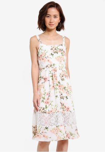 Dorothy Perkins white Petite Butterfly Midi Dress DO816AA0RI8XMY_1