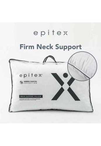 Epitex white Epitex Bamboo Charcoal Regular Pillow (1100g) E9E8EHL53CB80CGS_1