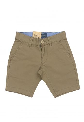 BOSSINI KIDS brown Cotton Twill Shorts C6F33KA202EE0CGS_1