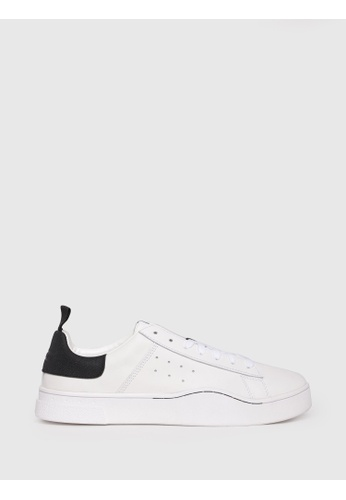 Diesel white S-Clever Low Lace Shoes 85C3FSHBD84C2AGS_1