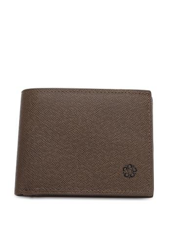 Wild Channel brown Men's Genuine Leather RFID Blocking Bi Fold Wallet 81375AC30118E7GS_1