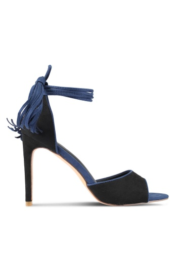 Something Borrowed black and blue Contrast Piping Lace Up Heel E001FSH31CE6AEGS_1