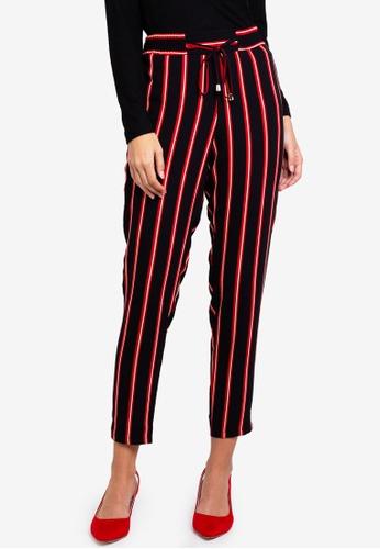 0631c53a36 Stripe Skinny Tie Waist Joggers