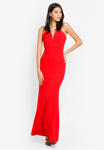 WALG red Flap Detail Strappy Maxi Dress 4D255AA27127BBGS_1