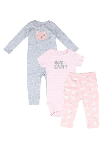 Milliot & Co. pink Achilles Girls Newborn Set 20A1CKABBCBEAEGS_1