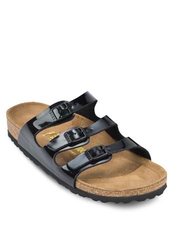 Floridaesprit 兼職 三帶扣環平底涼鞋, 女鞋, 懶人鞋