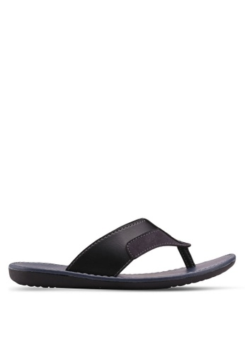 Bata black Bata Toe Post Sandals 83CAASH47EA1AFGS_1