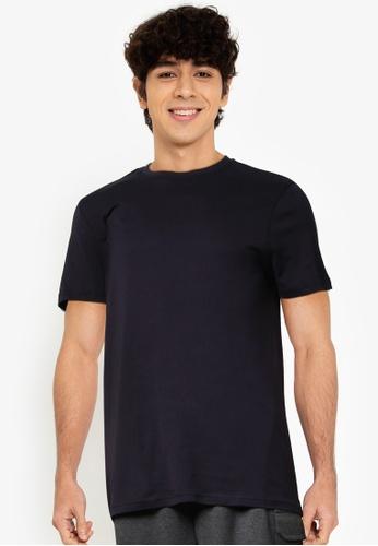 OVS blue Solid Colour T-Shirt E1089AA744793EGS_1